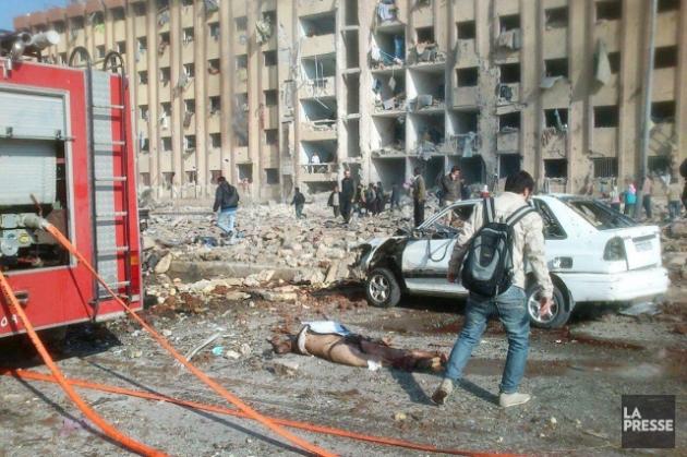 Carnage à l'université d'Alep 10 01 2013