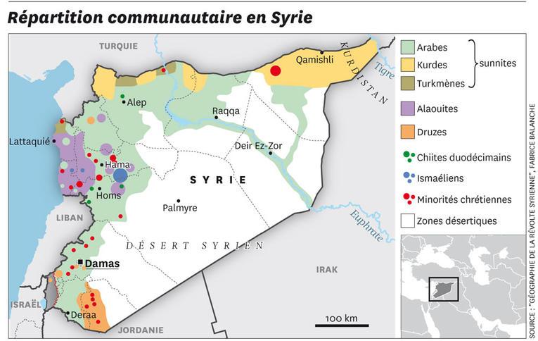 Carte SyrieCommunautes