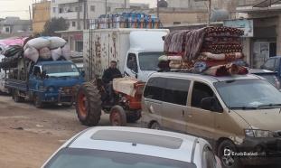 Déplacement-des-civils-de-Jabal-Al-Zawiya-et-Ariha-vers-des-zones-moins-exposés-aux-bombarement-le-29.1.2020-5-14
