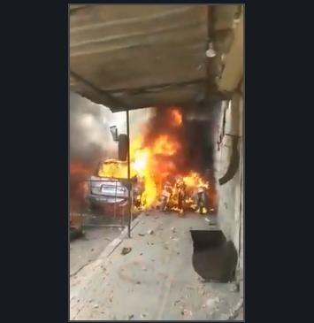 تفجير-مفخخة-عفرين-انفجار2